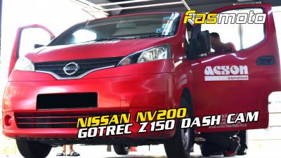 Acson Malaysia Nissan NV200 Panel Van GoTrec Z150 dash cam install