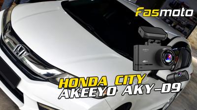 AKEEYO AKY-D9 Dash Cam Unboxing and install into the Honda City GM6 brief menu settings walk through