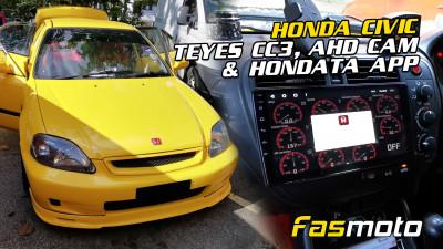 Vehnthan's Honda Civic Teyes CC3 and AHD Cam Install   Running Hondata ECU with App Display
