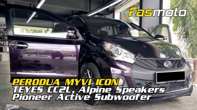 Perodua Myvi ICON Teyes CC2L, Alpine S-Series Speakers, Pioneer TS-WX400DA and Rubber Seals install