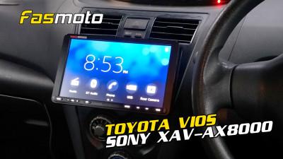 Toyota Vios 2nd Gen XP90 | SONY XAV-AX8000 | Vios Radio Replacement