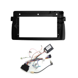 "9"" Android Player Dashboard Installation Kit for BMW E46 1998-2005 with Plug-and-Play Wire Harness"