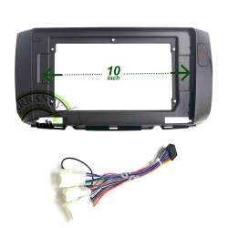 "10"" Android Player Dashboard Installation Kit - Perodua ALZA 2010-2017 with Hazard Signal (Dark Grey) with Plug-and-Play Wire Harness"