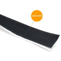 Self Adhesive Black Velcro Tape (Hook and Loop) 25mm (1 inch)