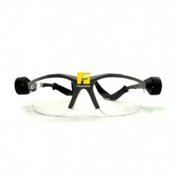 3M Light Vision 2 Protective Eyewear Goggle 11476-00000-10 Clear Anti-Fog Lens, Gray Frame, Lights