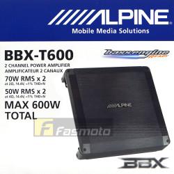 Alpine BBX-T600 2 Channel Class A/B Car Audio Amplifier 70W RMS x 2 at 2 ohms