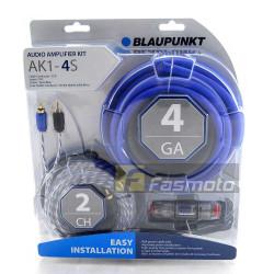 Blaupunkt AK1-4S 2 Channel 4 Gauge Car Audio Amplifier Wiring Kit