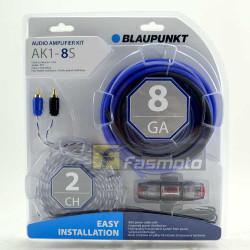 Blaupunkt AK1-8S 2 Channel 8 Gauge Car Audio Amplifier Wiring Kit