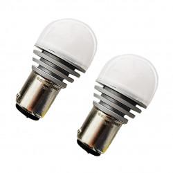 BLAUPUNKT 125260W S25 LED White 6000K 260Lm/35Lm 12V 2.52W/0.28W (1 pair)