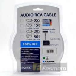 Blaupunkt RC2-12S 2 Channel RCA Audio Cable 1.2M (3.9 ft) Oxygen Full Copper