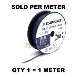 BLAUPUNKT SC1-1850S Audio Speaker Wires 18 Gauge Black and Blue (Sold per Meter)