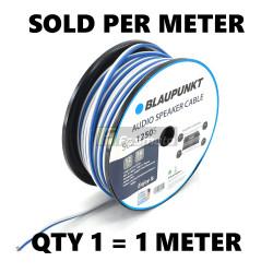 BLAUPUNKT SC2-1250S Audio Speaker Wires 12 Gauge White and Blue (Sold per Meter)