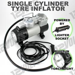12V 150 PSI Portable 1 Cylinder Car Tire Inflator Compressor Pump Torch Light