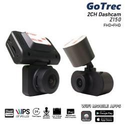 GoTrec Z150B FHD Dual Front and Rear Dash Cam WiFi 24-hour Parking Mode 32GB SD Card