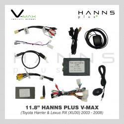 HANNS Plus V-Max 11.8″ Vertical Screen Android Head Unit (Toyota Harrier & Lexus RX (XU30) 2003~2008)
