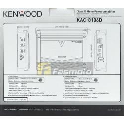KENWOOD KAC-8106D Class D Mono Amplifier 300W x 1 (4ohms)