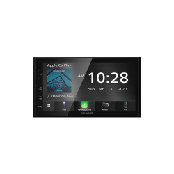 "Kenwood DMX5020S 6.75"" Capacitive Digital Media Receiver with Apple CarPlay, Android Auto, USB Mirroring, Bluetooth"