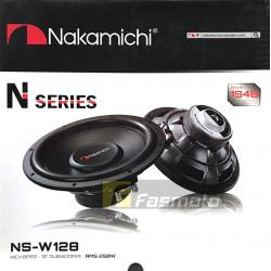 "NAKAMICHI NS-W128 12"" N-Series Rich Bass DVC Subwoofer 250W RMS (1 Pc)"