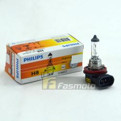 PHILIPS 12360C1 H8 OE Standard 12V 35W PGJ19-1 Single Filament Bulb 12V