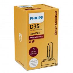PHILIPS 42403C1 D3S 4200K XENON Standard HID Headlight Bulb (1 Piece)