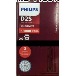 PHILIPS 85122XV2C1 D2S 4800K XENON Standard HID +150% Brighter Bulb(1 Piece)