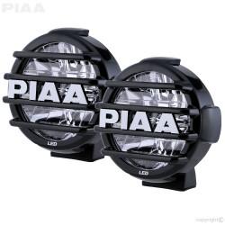 "PIAA LP570 DK575BWG 6000K 7"" White LED Driving Light Kit 12V 18W ECE SAE 1 Pair"
