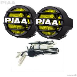 "PIAA LP530 DK536G 3.5"" Ion Yellow LED Driving Light Kit 9.4W 1 Pair"