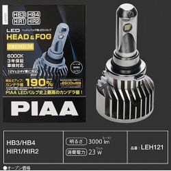 PIAA LEH121E HB3/HB4/HIR1/HIR2 LED 3000lm 6000K