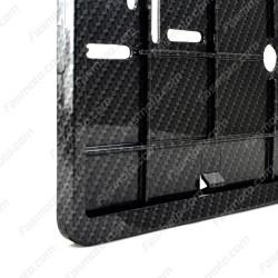 Faux Carbon-Fiber Double Row 335mm Vehicle Registration License Plate Frame