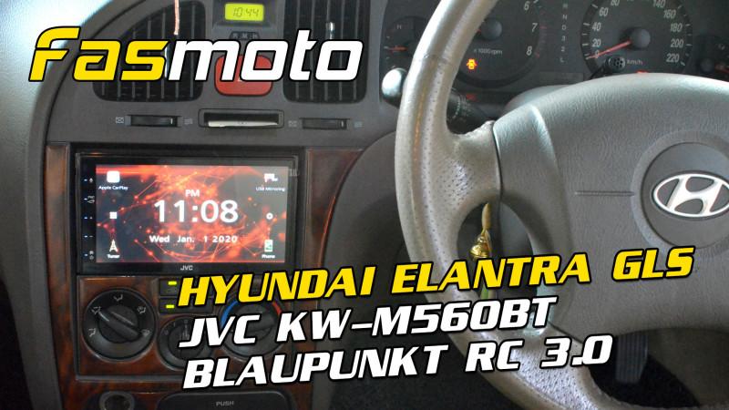 Hyundai Elantra GLS 3rd Gen JVC KW-M560BT Blaupunkt RC 3.0