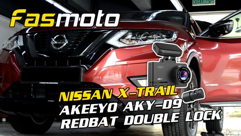 Nissan X-Trail AKEEYO AKY D9 Dual Channel Dash Cam Redbat Pedal Double Lock