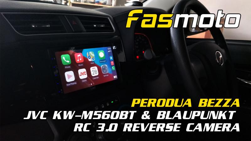 Perodua Bezza JVC KW-M560BT and Blaupunkt RC 3.0 rear Camera Install