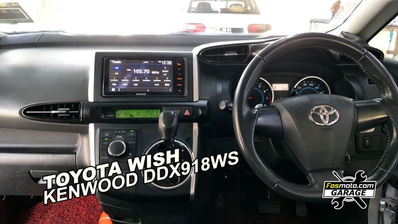 Toyota Wish 2009 AE20 Kenwood DDX918WS Head unit Install