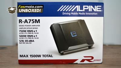 Unboxing the Alpine R-A75M Mono Amplifier