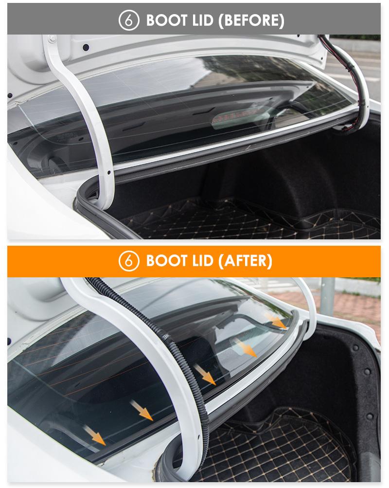 Dual Layer B Type Door Seals for Sound Proofing
