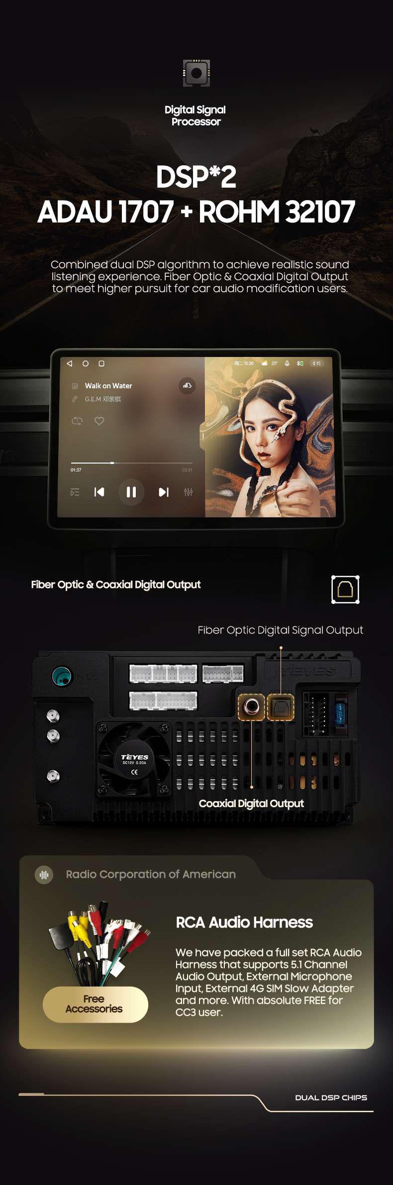 TEYES CC3 Android 10 OS Car Multimedia Head Unit