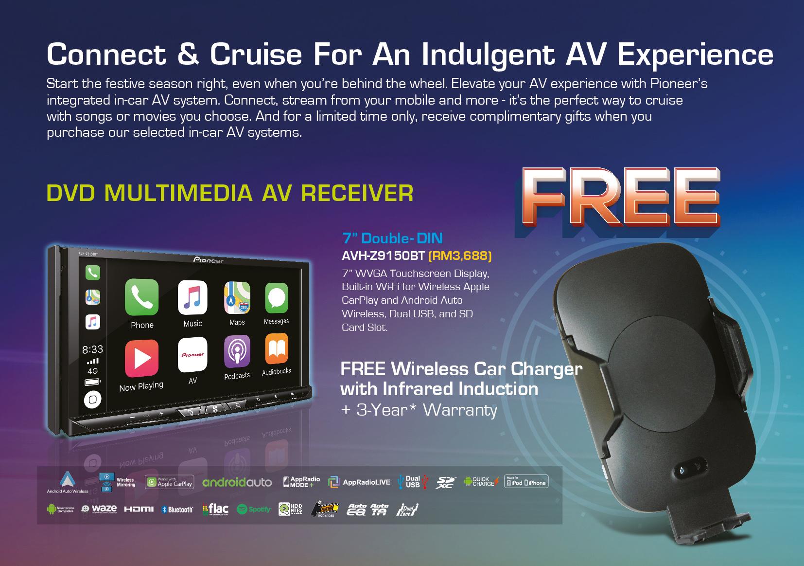Pioneer In-Car Xtravaganza 2018 AVH-Z9150BT Free Gift