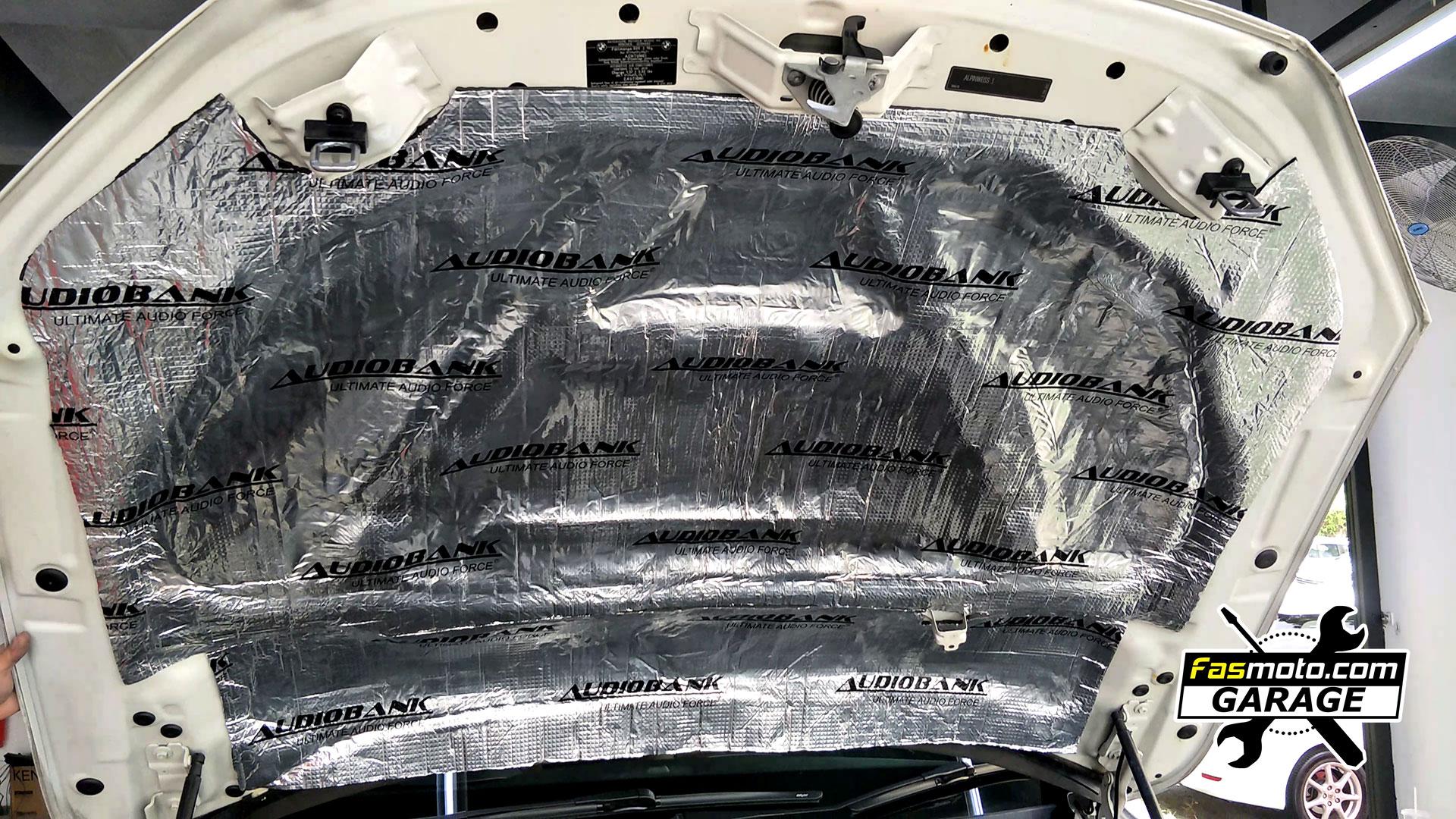 BMW X1 E84 Under Hood Bonnet Sound and Heat Insulation
