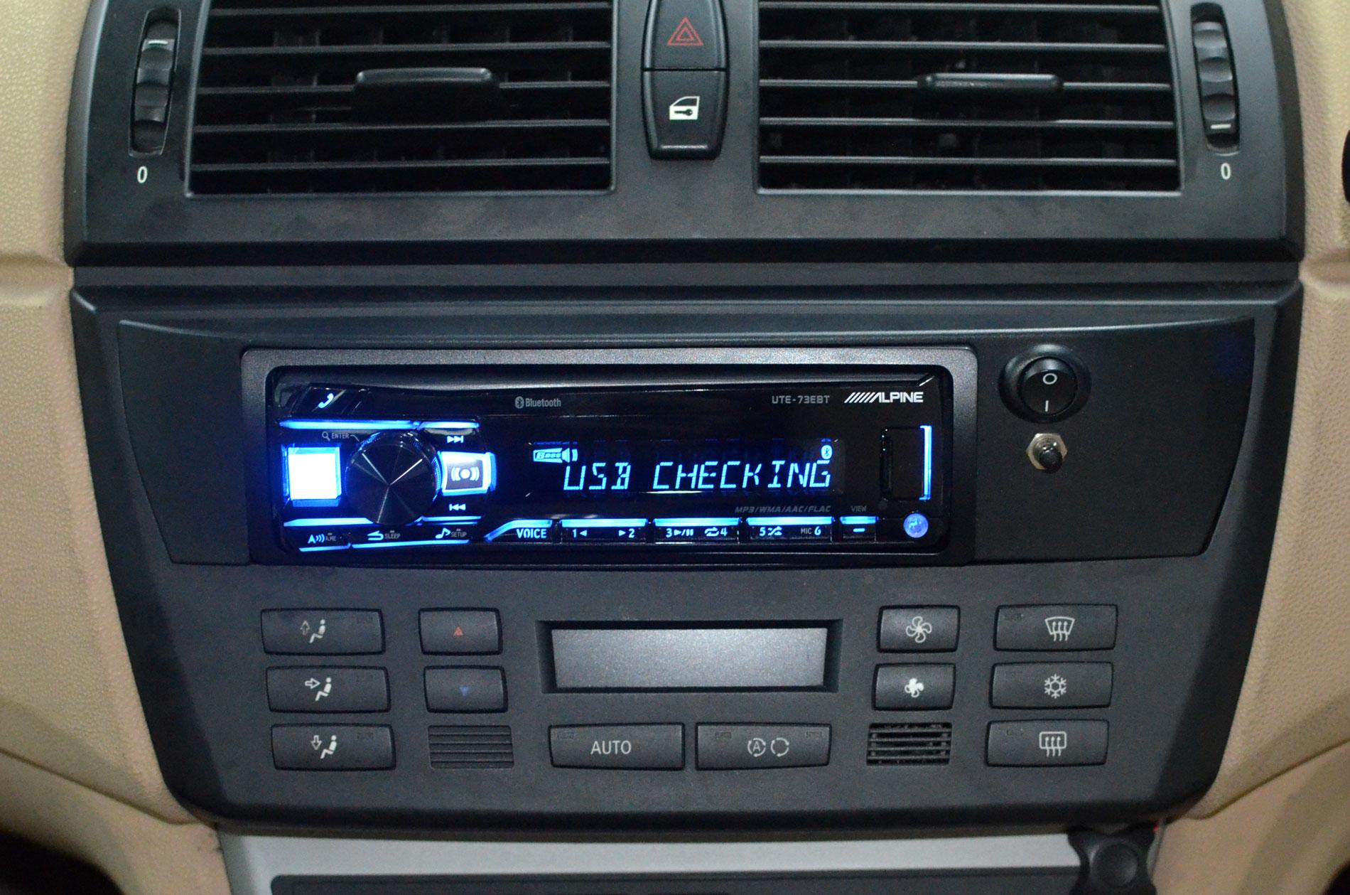 Alpine UTE-73EBT install in the BMW X3 1st Gen complete