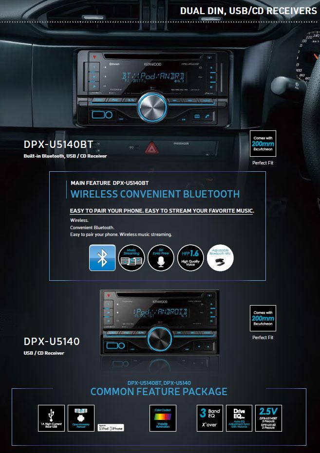 Kenwood Dual Din USB CD Receiver