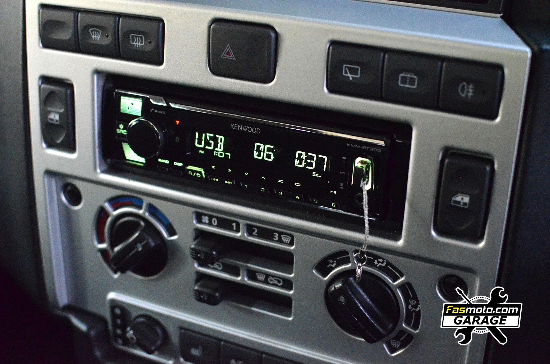 Land Rover Defender SVX Kenwood KMM BT305 Install