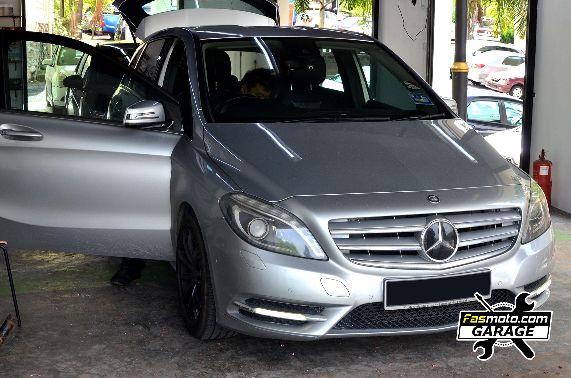Mercedes Benz B200 B Class Rear Parking Camera install