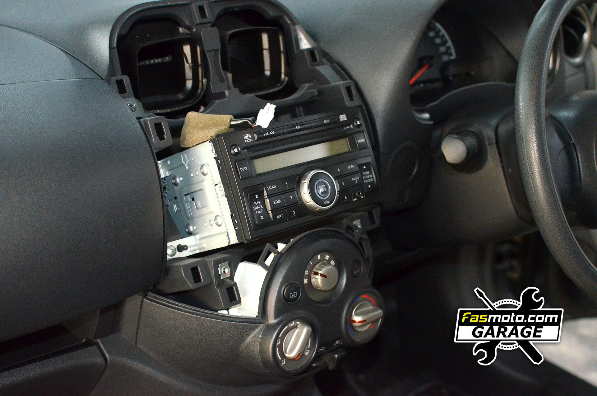 The Nissan Almera N17 factory head unit