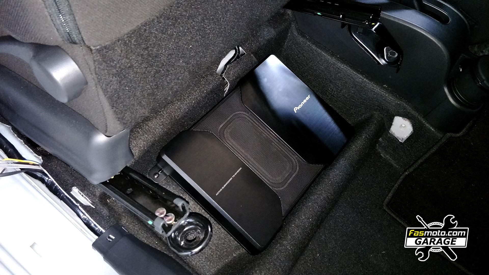 Perodua Myvi 3rd Gen Pioneer Underseat Compact Active Subwoofer Install