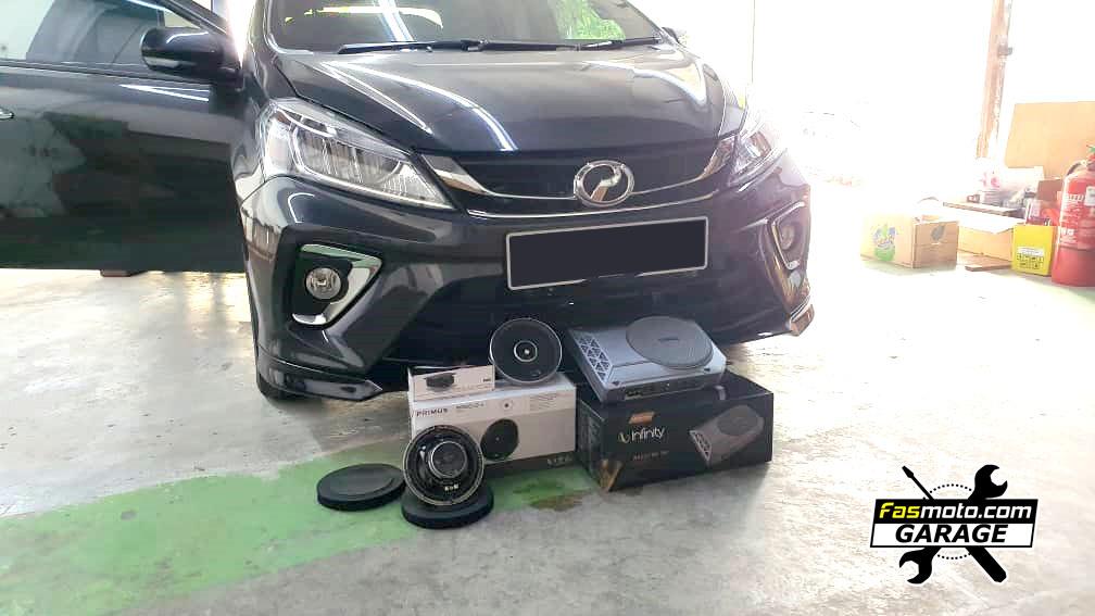 Perodua Myvi 3rd Gen H Spec Kenwood DDX918WS, Infinity