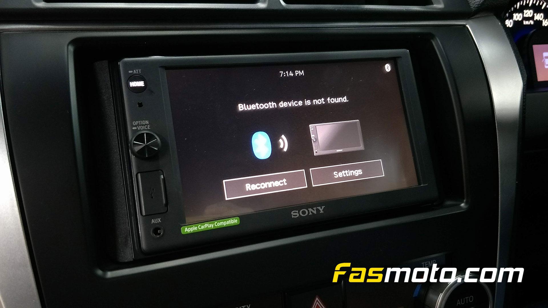 Sony XAV-AX1000 Bluetooth Connection Screen