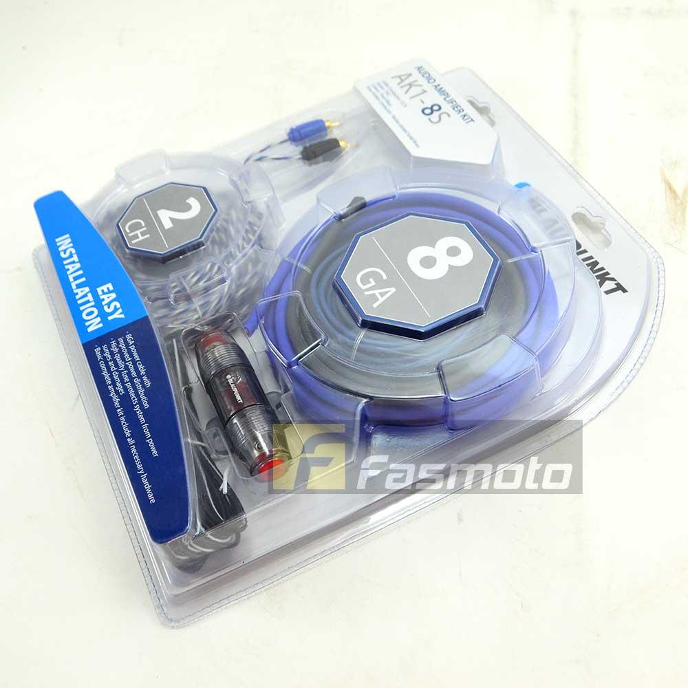 Blaupunkt Ak1 8s 2 Channel 8 Gauge Car Audio Amplifier Wiring Kit Ebay