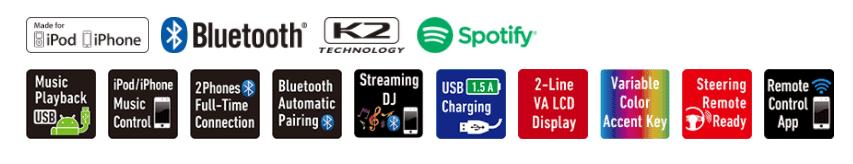 JVC KD-R881BT Single DIN Bluetooth CD USB Aux Car Stereo Receiver