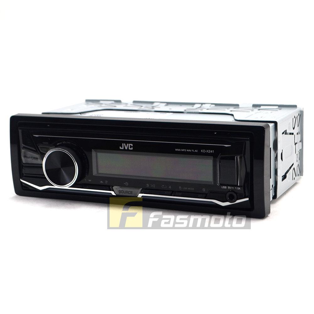 JVC KD-X241 Single DIN USB Aux Digital Media Car Stereo