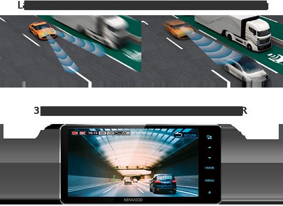 KENWOOD DRV-N520 Full HD Dashboard Camera compatible w/ select KENWOOD Receivers